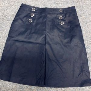 H&M Skirt Navy Blue Size 14 Kissing  Pleat